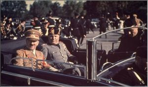 Hitler and Mussolini pictured taking a ride together. A post shall follow about their arrangement soon.